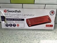 Swordfish A4 Superslim Laminator with pouches
