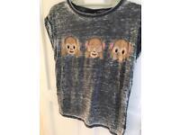 Size 6 emoji monkey top