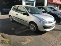 Renault Clio 1.2 Petrol Manual 3 Door Hatchback 2006 Silver Low Mileage New Shape
