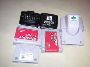 For sale. Memory card, jumper pack, rumble pack.