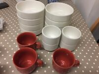 Stackable Bowls and mug set. Excellent condition