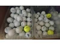 Golf balls, titleist, callaway, srixon etc