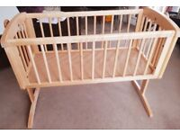 Mothercare Swing Crib and Mattress(new, never slept in)