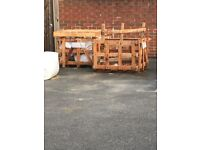 Wooden pallet and crates