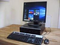 HP Professional PC & LCD Monitor. Wi-Fi Internet. 3.0GHz AMD Dual Core, 4GB RAM, Win 10. Like New!