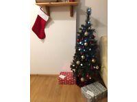 Christmas tree + LED lights + Christmas ornaments