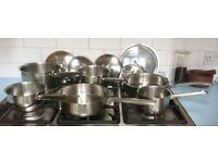 Quality stainless steel pans