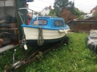Mayland 14' boat with 6hp marina out board and trailer