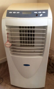 Airworks floor standing air conditioner with remote.