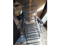 Set of 2 garden chairs
