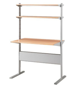 IKEA desk with bookcase (adjustable)