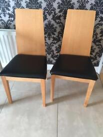 Set of 2 dining chair. £60 for both