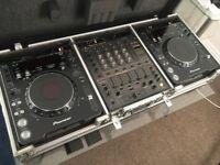 Pioneer CDJ 1000MK3 Decks, DJM-600 Mixer, Opera Live Speakers, Plus headphones and travel case