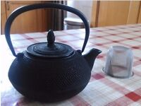 Ceylon Cat Iron Teapot With Strainer 0.6L (boxed + with teas)