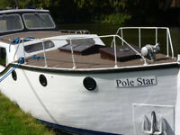 TRADITIONALLY BUILT EVERYMAN CABIN CRUISER, 1950`S, 28 FOOT, 4/5 BERTH LAUNCH 1.5 BMC INBOARD DIESEL