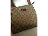 Genuine Gucci Manbag beige messenger bag man