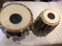 TABLA, HAND MADE BRASS TABLA SET