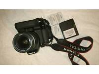 Canon EOS 600D with kit lense 18-55mm and battery grip