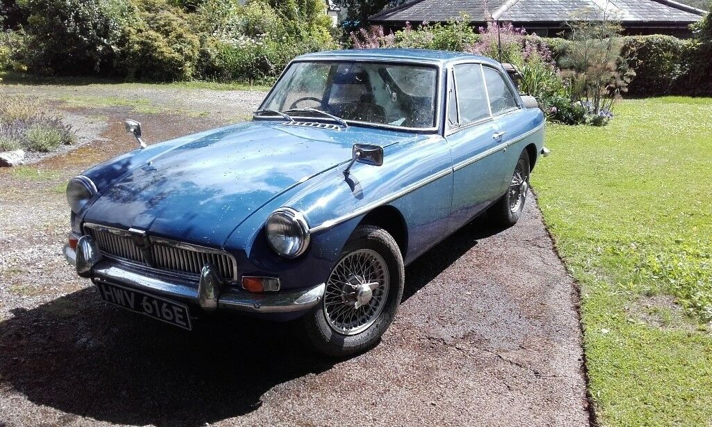 MK1 MGB GT Early 1967. Mineral Blue MOT to May 2018, no advisories ...