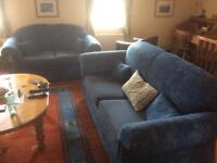 2 and 3 (with pull out bed) seater sofa set