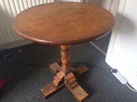 Small Wooden Table, Brown (70cm Diameter), Only £10