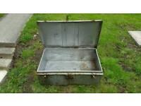 Vintage Metal Army Box