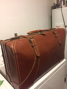 All genuine leather suitcase for sale