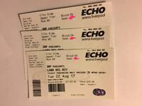 3 Lana Del Rey Seated Tickets Liverpool 22/8/17
