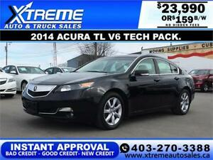 2014 Acura TL Tech Package $159 Bi-Weekly APPLY NOW DRIVE NOW