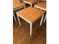 Square new pine top table