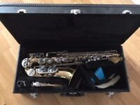 Alto Saxophone by Earlham with case and neck support - £75