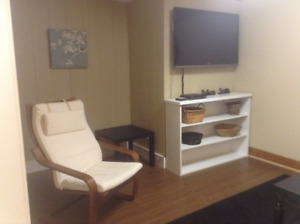 Renovated & furnished 2 bdrm bsmt suite 1/2 block from Augustana