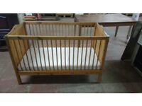 Basic baby cot with mattress