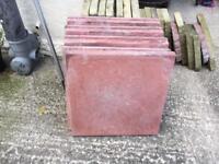 Riven paving slabs 450 x 450 x 38 red & buff