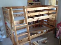 Multi Position Heavy Solid Pine Bunk Beds