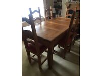 Mexican Pine Table&Chairs