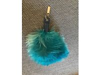 Large Ostrich feather key ring