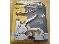 NEW - Heavy Duty Hand Staple Gun + Staples & Nails Stapler
