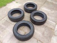 4 x 205/55/R16 (1/94 tyres (2 Michelin) 5-6mm tread left. Suit VW Golf, Jetta, Audi A3, SEAT Leon