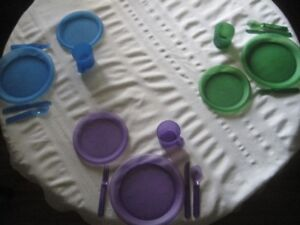 60 Place Settings of Plastic Dishes