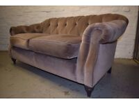 Chesterfield Two Seater Sofa With Armchair (DELIVERY AVAILABLE)