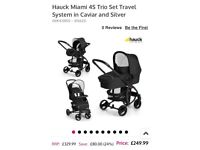 Hauck Miami 4s trio travel system AS NEW