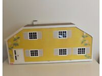 Vintage 1/16 Scale Lundby Stockholm Dolls House & Stable Extension with Transformer