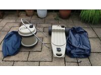 Caravan water carriers with covers