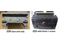 Mazda 3 single CD factory audio head unit with AUX connection upgrade