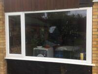 UPVC Window, 2380mm x 1340mm approx, 1 opener.