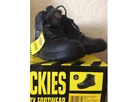 MENS DICKIES SEVERN SAFETY WORK BOOTS LEATHER SIZE UK 9 EU 43 Black