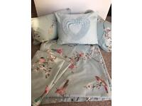 King size duvet cover, pillows and cushions