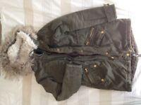 Khaki green jacket New Look size 6