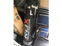 Brand new punch bag with accessories